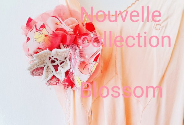 """logo NOUVELLE COLLECTION """" BLOSSOM"""" 21."""